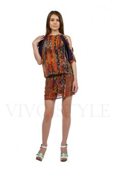 Платье с открытыми плечами 20217-3