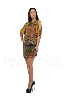 Платье с открытыми плечами 20217-2