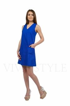 Практичное повседневноеплатье лён 20549-2