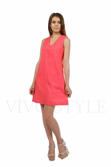 Практичное повседневноеплатье лён 20549-3