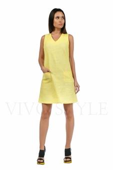 Практичное повседневноеплатье лён 20549-4