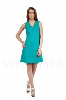 Практичное повседневноеплатье лён 20549-8