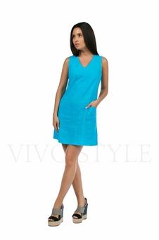 Практичное повседневноеплатье лён 20549-6