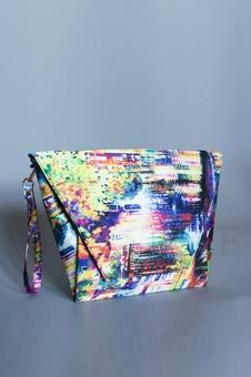 Разноцветная стильная сумка 56024-1
