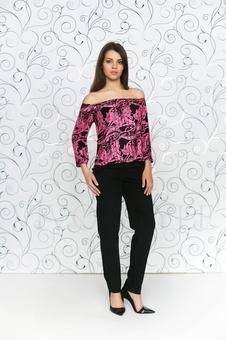 Женская блуза из гофрированной ткани 10324-1