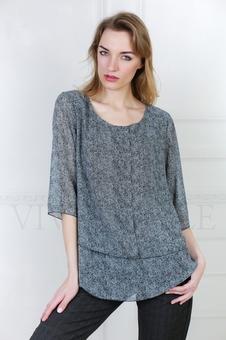 Женская блуза из струящейся ткани 10513-1
