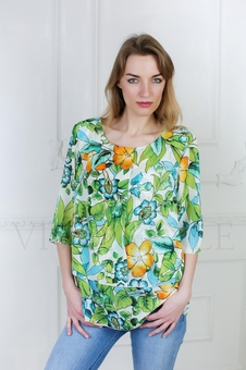 Женская блуза из струящейся ткани 10513-2
