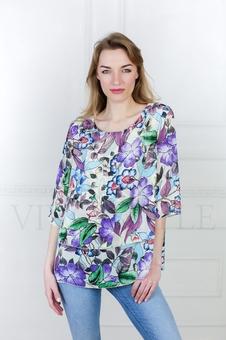 Женская блуза из струящейся ткани 10513-3