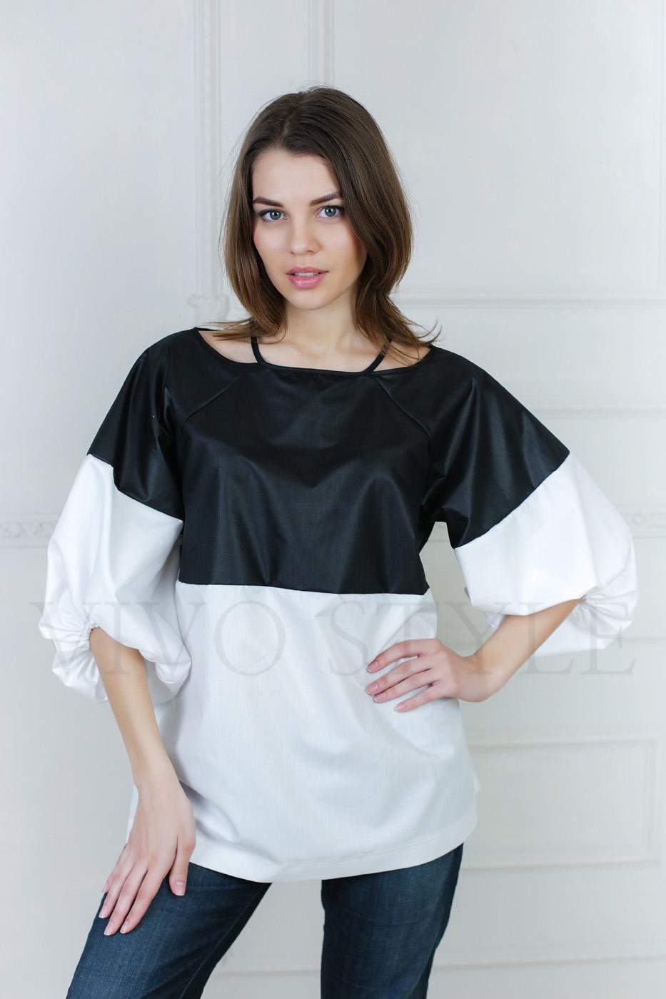 Удлиненная объемная женская блуза